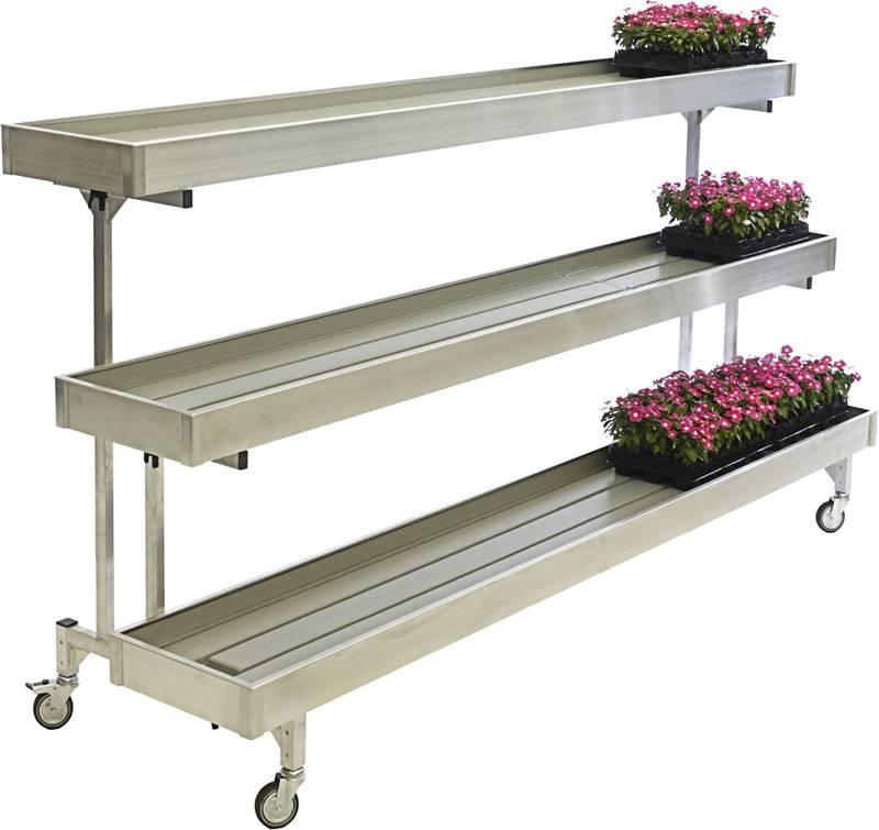 Estructura transportadora para plantas 3 niveles - Jardineras de fibra de vidrio ...
